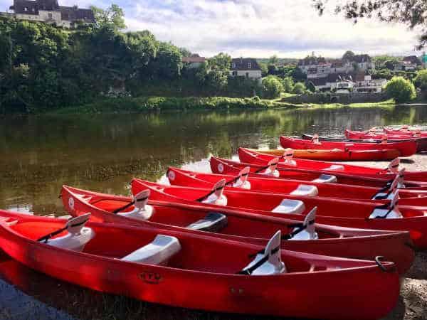 canoe dordogne photo port d'Enveaux