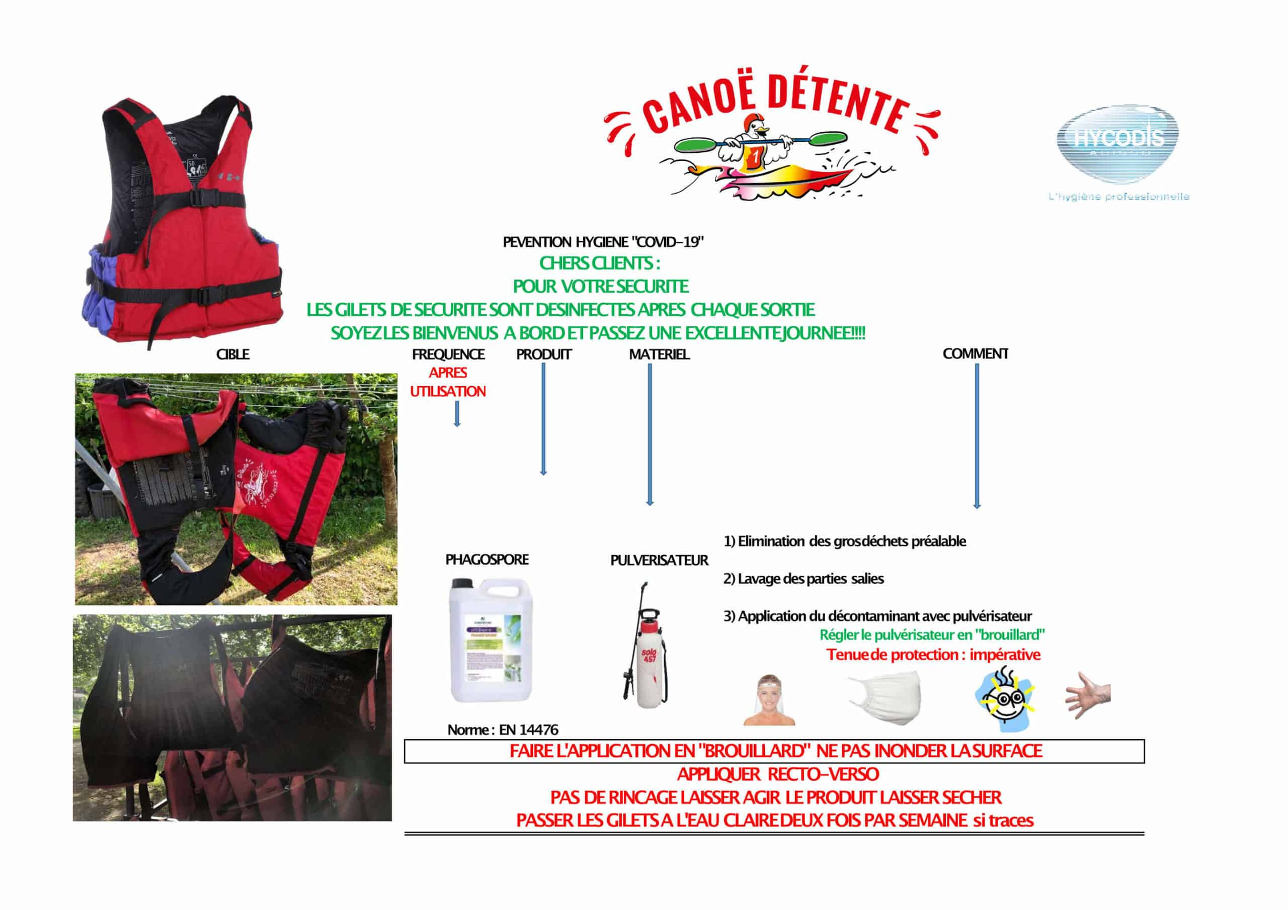 PROTOCOLE GILETS - DETENTE - DECOUVERTE